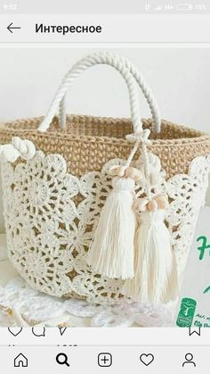 Trendy Ideas for knitting bag sewing crochet Crochet Shell Stitch, Crochet Tote, Crochet Handbags, Crochet Purses, Free Crochet, Knit Crochet, Tapestry Crochet, Purse Patterns, Sewing Patterns