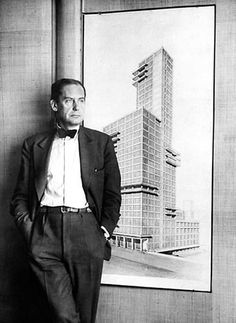 Walter Gropius – was a German architect and founder of the Bauhaus School, who, along with Ludwig Mies van der Rohe, Le Corbusier and Oscar Niemeyer, is widely regarded as one of the pioneering masters of modern architecture. Architecture Bauhaus, Le Corbusier Architecture, Architecture Design, Classical Architecture, Landscape Architecture, Chinese Architecture, Architecture Office, Futuristic Architecture, Contemporary Architecture
