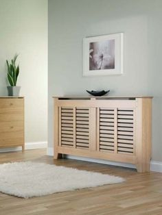 radiator cover I want to make for the kitchen, with storage bench in front