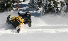 Snowmobiling in Montana