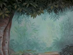 disney crossover Image: Empty Backdrop from The Jungle Book Book Background, Disney Background, Animation Background, Environment Concept, Environment Design, Champs, Jungle Room, Walt Disney Animation Studios, Disney Crossovers