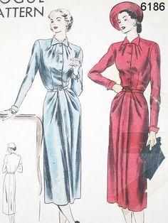 Vintage 50s Dress Pattern  Vogue 6186  Misses' by ThePatternSource, $28.00
