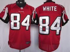 Mens Nike Atlanta Falcons #84 Roddy White Elite Red Team Color NFL Jersey (8-20)