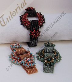 Beading Tutorial Instructions Bead weaving Pattern Cassini's Ring Peyote Bracelet by LadyAbeada Designs $10.00 A peyote bracelet with a detachable Super Duo Focal ring that can be suspended on a ribbon for a quick fashionable necklace!