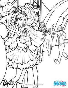 Tori Is Backstage Barbie Coloring Page More The Princess Popstar Pages