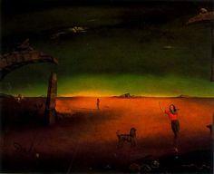 Composición - Retrato de Mrs. Eva Kolsman - Salvador Dalí - 1946. Óleo sobre lienzo. 77 x 92 cm. Propiedad particular.