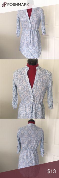 Selling this Blue half Button down tunic dress on Poshmark! My username is: jonsey772. #shopmycloset #poshmark #fashion #shopping #style #forsale #Derek Heart #Dresses & Skirts