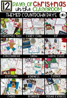 12 Days of Christmas in the Classroom- packed FULL of educational activities