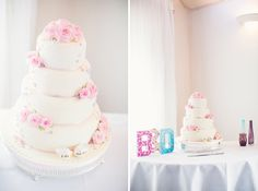 pink white wedding cake, image by http://www.ericyerke.com/