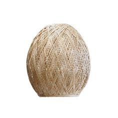 Bamboo Medium Spiral Light Shade Natural