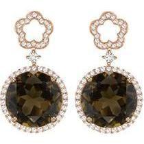 Kiki Mcdonough Smoky Quartz Eden Drop Earrings as seen on Pippa Middleton