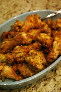 BAKED LEMON PEPPER WINGS - Brined to keep the chicken from drying out.