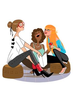 Image result for girlfriends illustration