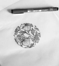 art tattoos, body art и flower tattoos Tatto Ink, Body Art Tattoos, Tattoo Design Drawings, Tattoo Designs, Tatto Floral, Diy Tattoo Permanent, Floral Drawing, Desenho Tattoo, Copics