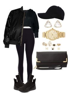 """""""Untitled #1962"""" by mrkr-lawson ❤ liked on Polyvore featuring Puma, Charlotte Russe, Givenchy and Michael Kors"""