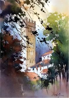 Cathedral of San Martino - Lucca, Italy. Thomas W Schaller. Plein Air Watercolor Demonstration 20x14 cm - 24 May 2018 ++ #Kunst #Art #Malerei #painting #Aquarell #watercolor #watercolorarts