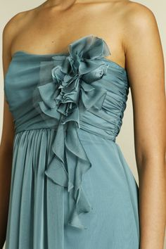 Jim Hjelm jasper luminescent chiffon; floor length! Obsessed with this color