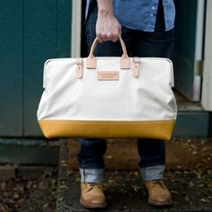 Really lovely weekender - by Wood and Faulk, made in Portland