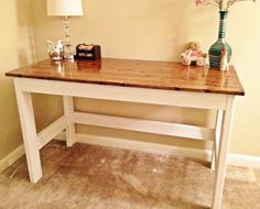 country desk diy like the board to prop my feet on - Homemade Wooden Desk Designs
