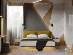 "35 Lovely Luxury Bedroom Design Ideas For Beautiful Home - Who would not want a luxury bedroom? It is good to be queen ""or king"" every now and then so why not turn that ""just a bedroom"" into a special retreat . Bedroom False Ceiling Design, Luxury Bedroom Design, Bedroom Bed Design, Bedroom Furniture Design, Bedroom Ceiling, Hotel Bedroom Decor, Bed Headboard Design, Small Room Interior, Home Interior"