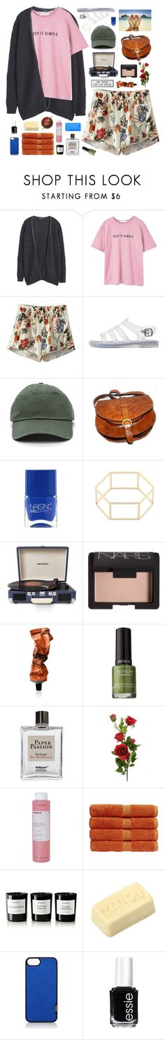 """""""☾ i know i'm not the center of the universe"""" by thundxrstorms ❤ liked on Polyvore featuring MANGO, Chicnova Fashion, Charlotte Russe, Nails Inc., Crosley Radio & Furniture, NARS Cosmetics, Aesop, Revlon, Steidl and GET LOST"""