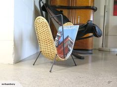 This special auction is for this rare Pan-Pacific modernist Magazine rack. Magazine Rack, Art Deco, Auction, Retro, Antiques, Inspiration, Furniture, Home Decor, Antiquities