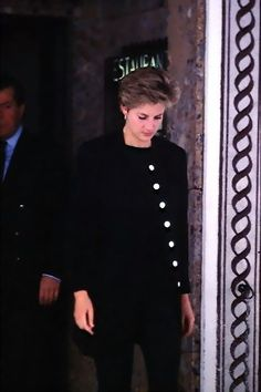 Princess Diana in Mourning for the death of her father Earl Spencer