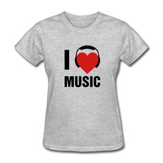 I Love Music T-Shirt | DJB Designs #music #rap #mixtape #listen #dance #ipod #hip-hop #album #rnb #club #play #love #playlist #oldschool #radio #cassette #charts #cd #lyrics #record #boombox #funny