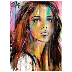 Northern Lights Art Print by louijoverart Art Sketches, Art Drawings, Arte Sketchbook, Arte Pop, Light Art, Portrait Art, Face Art, Amazing Art, Watercolor Art