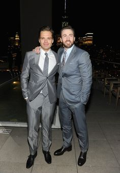 Sebastian Stan and Chris Evans - 'Captain America: The Winter Soldier' Screening