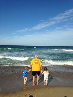 This was the scene 5 minutes after we arrived for our week in Nags Head. Grandpa and his loves.Sarah C