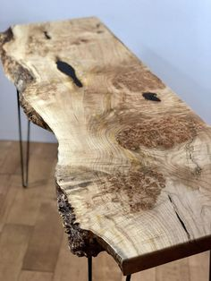 Live Edge Maple Console Table Modern Entryway Table Slab