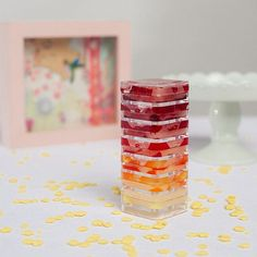 a rainbow of flavor! Here's a sneak peak of our Ombré Sunset Stackable Lip…