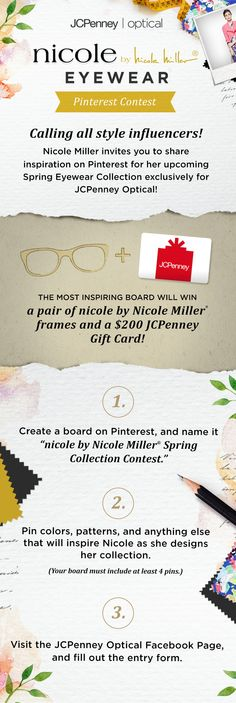 903c353c3b Enter for a chance to win a pair of nicole by Nicole Miller eyeglasses and   200