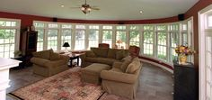 Remodeled family room by EGStoltzfus. #architecture