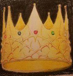 Study of a crown for a project on which I am working - soft pastel on paper 17 X 17 cm.  Artist: Michael Page
