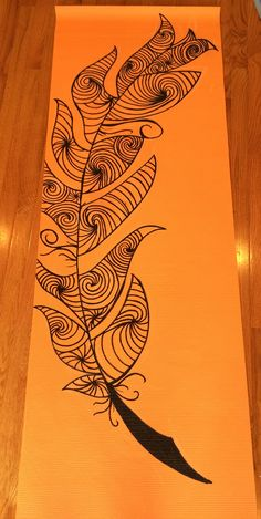 """Custom Hand Painted Yoga Mat Each mat is: -1/4in thick -68"""" by 24"""" -hand painted and hand sealed (to protect your mats longevity) -textured and nonslip"""