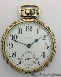 Vintage E Howard Railroad Chronometer Antique Pocket Watch to Fix #EHoward