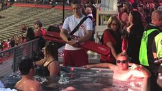 Hot tubs at a college football game is the most New Jersey thing youll ever see