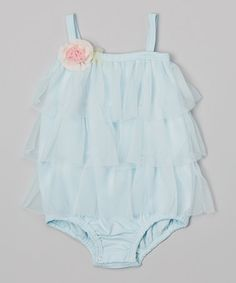 Look at this #zulilyfind! Light Blue Ruffle Pima Bodysuit - Infant by Victoria Kids #zulilyfinds