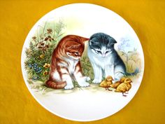 """POOLE CATS by J.CROFF PLATE dia 6"""" (0.2/231) 