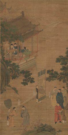 Li Shida(李士達) , 琴棋书画图轴 美国波士顿博物馆藏
