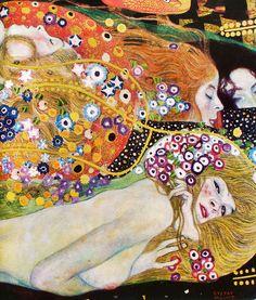 Gustav Klimt Water Serpents II (detail)