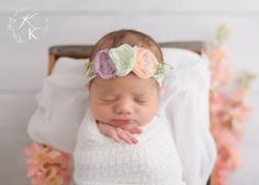 Kelly Kristine Photography | Newborn Photos - baby flower crown :)