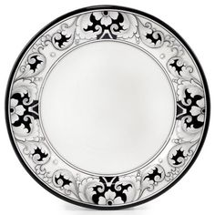 "DERUTA - 'VARIO, NERO' Collection - Charger Plate, 13"" | Artistica Italian Ceramics"