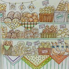 Instagram media hiccoro221 - ポリーヌのパン屋  久っしぶりに塗った やっぱり楽しい これから、またボチボチ塗っていきたいなぁ☺  #コロリアージュ#大人の塗り絵#coloring#ロマンティックカントリー