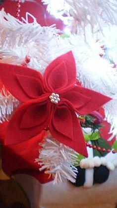 Rose de Noël  en feutrine