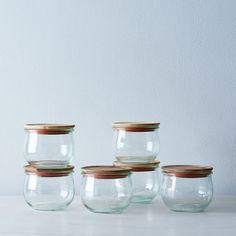 Weck Tulip Jars (Set of 6 - large lid) Kitchen Jars, Kitchen Items, Kitchen Gadgets, Kitchen Stuff, Kitchen Plants, Kitchen Appliances, Weck Jars, Mason Jars, Candle Jars