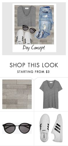 """""""Daily"""" by dilsad-cangr on Polyvore featuring moda, Polaroid, The Great, Yves Saint Laurent ve adidas"""