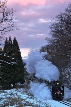 Love riding a train  :)